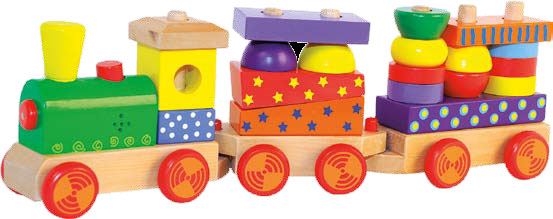 Woody trein met geluid 3 dlg. 90840