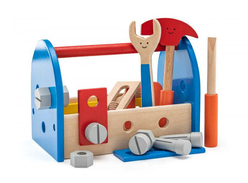 Woody gereedschapkist met inhoud 90104