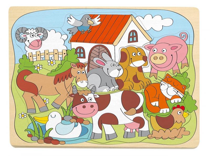 Woody boerderij puzzel 30x23cm 91929