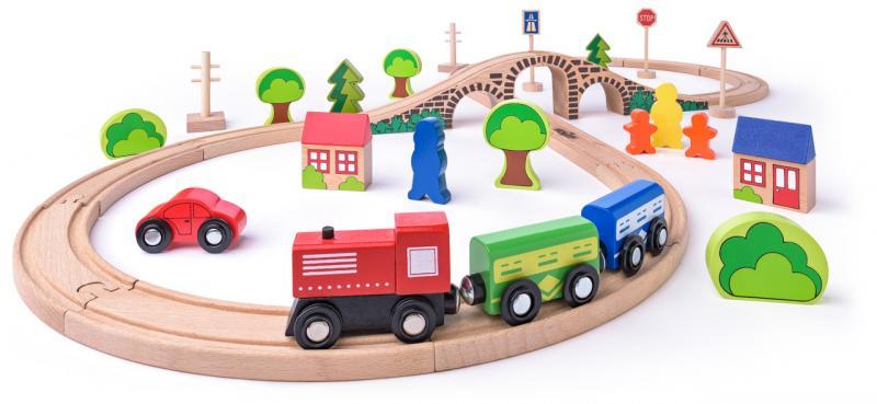 Woody Treinset 8 figuur 40 dlg 93061