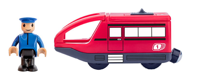 Woody moderne locomotief rood 91908