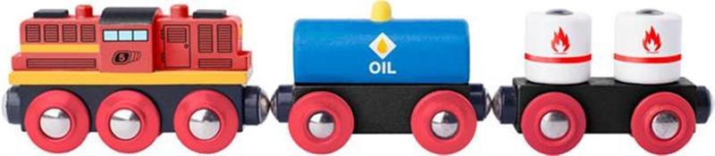 Woody locomotief+2 goederenwagons 91898