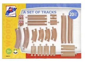 Woody 20 delige treinrails set 90872