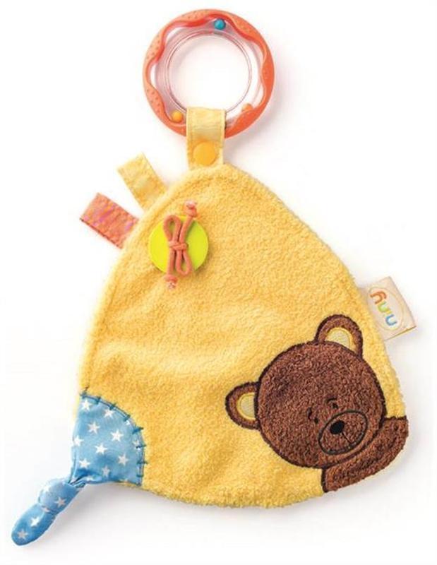 Niny knuffeldoekje teddy + rammel 700011