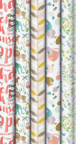Rol geschenkpapier Pure green 200x70cm