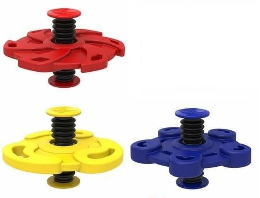 Springing Spinner Rubber 3 assorti kleur