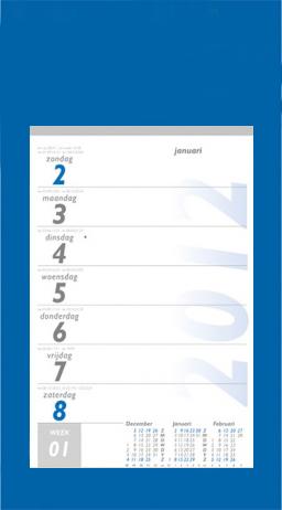 Weekkalender 1 week op pagina